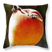 Fresh Peach Throw Pillow