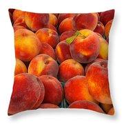 Fresh Peaches Throw Pillow