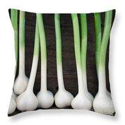 Fresh Picked Garlic Throw Pillow