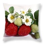 Gardenfresh Strawberries Throw Pillow