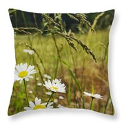 Fresh Rain Fresh Flowers Throw Pillow