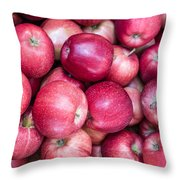 Fresh Red Apples Throw Pillow