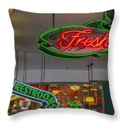 Fresh Restrooms Throw Pillow