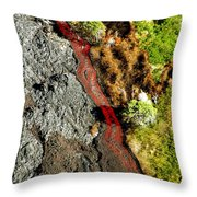 Fresh River Of Lave Throw Pillow