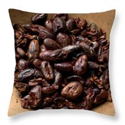Fresh Roasted Cocoa Beans - Nibs Throw Pillow