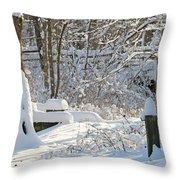 Fresh Snowfall  Throw Pillow