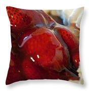 Fresh Strawberry Pie Throw Pillow