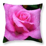 Fresh Sweet Surrender Rose Throw Pillow