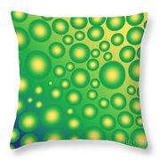 Fresh Tropical Bubbles Throw Pillow