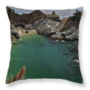 Fresh Water Into The Bay Throw Pillow by Adam Jewell