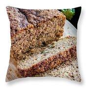 Fresh Zucchini Bread Throw Pillow