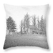 Freshly Plowed Field  Throw Pillow