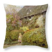 Freshwater Cottage Wc On Paper Throw Pillow