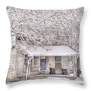 Freshwater Grocery Throw Pillow by Benanne Stiens