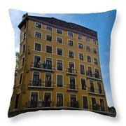 Fresque In Lyon Throw Pillow