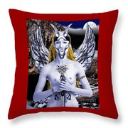 Freya Viking Warrior Throw Pillow
