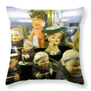 Friars And Ladies Throw Pillow