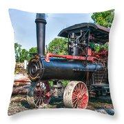 Frick Steam Tractor Throw Pillow