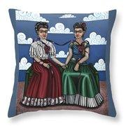 Frida Beside Myself Throw Pillow
