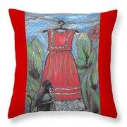 Frida Homage II Throw Pillow