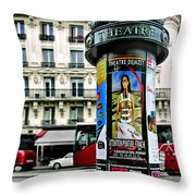 Frida In Paris Throw Pillow