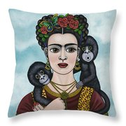 Frida In The Sky Throw Pillow