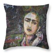 Frida Y Cigarrillos Throw Pillow