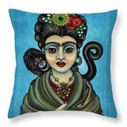 Frida's Monkey Throw Pillow