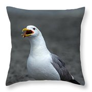 Friday Night At The Gull Bar And Grill Throw Pillow