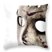 Friday The 13th Throw Pillow by Benjamin Yeager