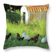 Fried Chicken Throw Pillow
