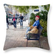 Friend And Companion - Watercolor Effect Throw Pillow