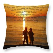 Friend For Life Poem Throw Pillow