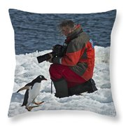 Friend Of The Penguins... Throw Pillow