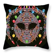 Friendisee Throw Pillow