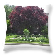 Friendly Green Gardens Of Cherryhill Nj America       Throw Pillow