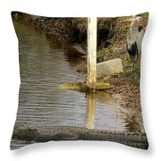 Friendly Hunting Together Throw Pillow