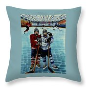 Friends And Foes Throw Pillow