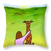 Friends Brindle Grey Throw Pillow