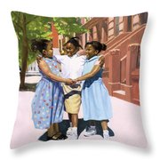 Friends Throw Pillow by Colin Bootman