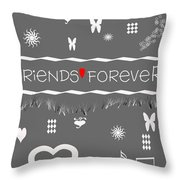 Friends Forever Valentine Throw Pillow