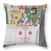 Friends From The Town - Dining Room Throw Pillow