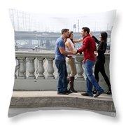 Friends Greeting  Throw Pillow