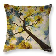 Friends In The City Throw Pillow