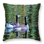 Friends Side By Side Throw Pillow