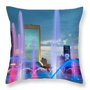 Friendship Fountain Jacksonville Florida Throw Pillow