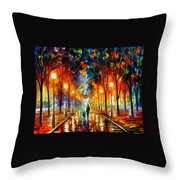 Friendship - Palette Knife Oil Painting On Canvas By Leonid Afremov Throw Pillow