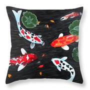 Friendship Underwater Big Commissioned Painting Throw Pillow