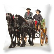 Friesian Carriage Throw Pillow
