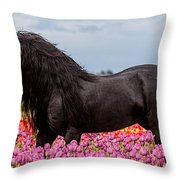Friesian Fleur Throw Pillow